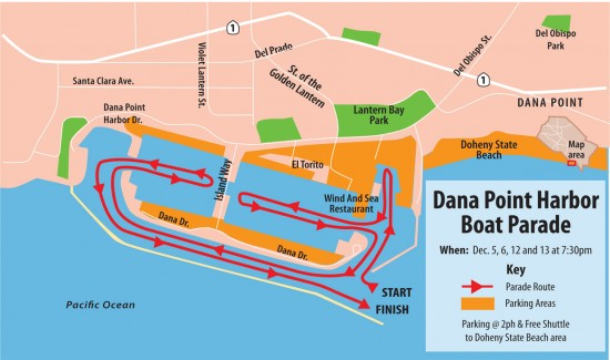 Dana Point Boat Parade Map